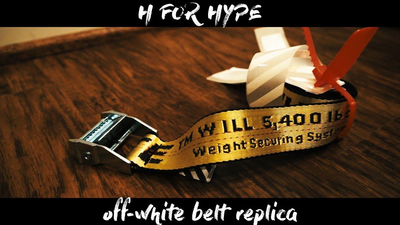 4e47befc0ea BEST OFF WHITE INDUSTRIAL BELT REPLICA (INSANE QUALITY) - YouTube