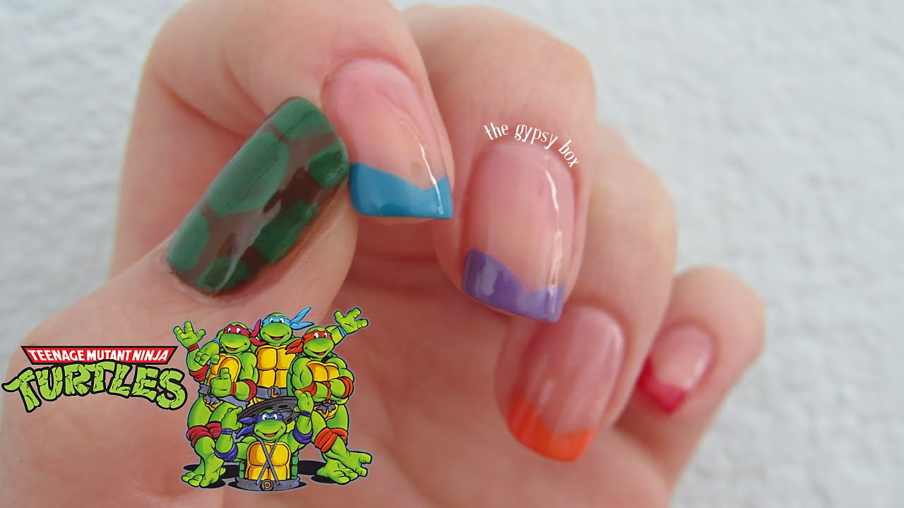 Teenage Mutant Ninja Turtles Nail Art Design | TheGypsyBox - YouTube