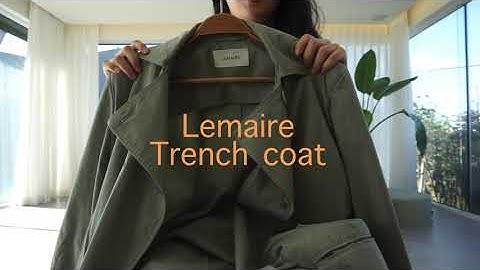 내가 좋아하는 Lemaire(르메르), Deveaux(드보) 브랜드 제품(자켓, 트렌치코트)소개, 가을 스타일링 공유