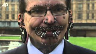 Most Pierced Man an Entry in Guinness 2012