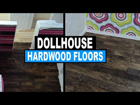 Diy How To Make Dollhouse Popsicle Stick Flooring Youtube