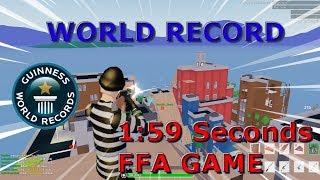1:59 Seconds FFA GAME World Record (Strucid Roblox)