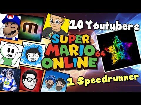 10 YOUTUBERS VS 1 SPEEDRUNNER [Super Mario 64] ft SimpleFlips, Muselk, SMG4, Nathaniel Bandy + more!