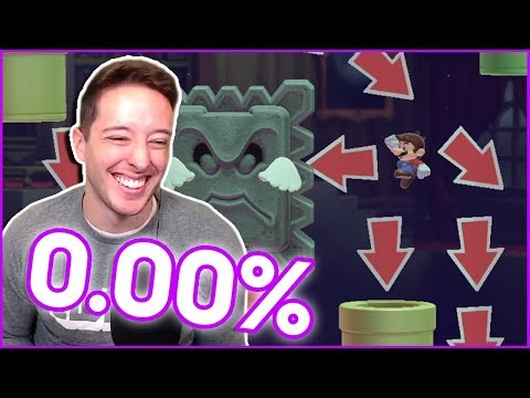 I Tried To Beat The OLDEST UNCLEARED 0.00% LEVEL In Mario Maker 2...