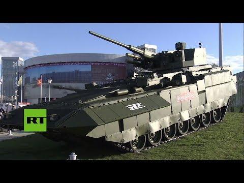 Vehículo de combate Armata T-15 exhibido en la expo Army 2018 en Kubinka