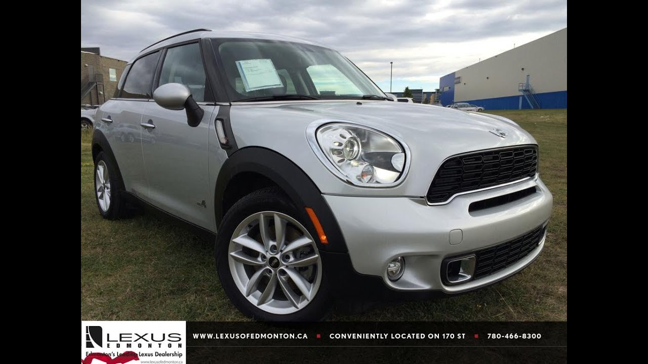 Lexus Pre Owned >> Pre Owned Silver 2014 MINI Cooper Countryman ALL4 S In Depth Review | Camrose Alberta - YouTube