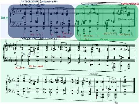 Chopin. Preludios Op. 28. Preludio nº 20 en Do menor. Análisis Musical. Estructura.