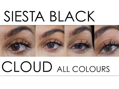 New Siesta Contacts Black Edition CLOUD Grey Green Blue Brown Review Discount Code //Rose Léonie