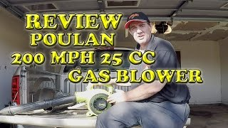 Poulan 200 MPH 25 CC Gas Blower Vac Review and Demonstration