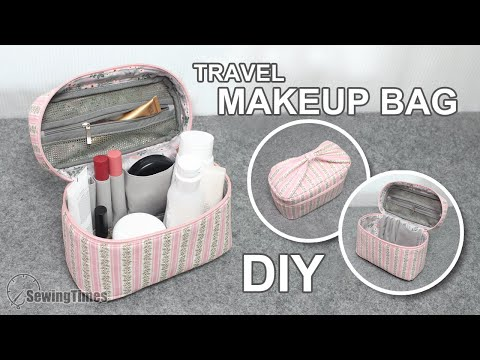 DIY Travel Makeup Bag | Useful Zipper Pouch Tutorial [sewingtimes]