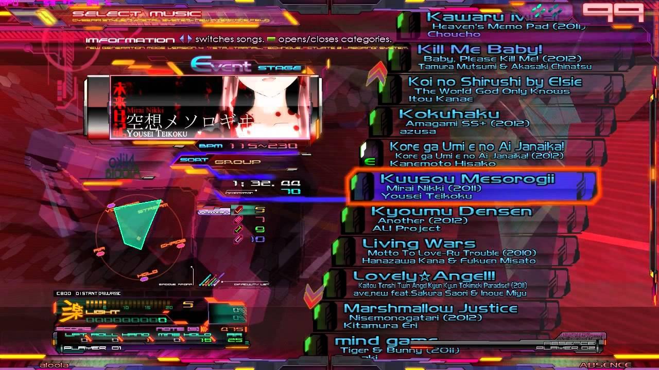 canciones de vocaloid para stepmania 5.0