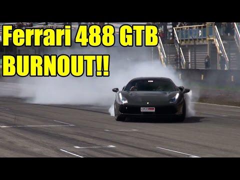 Ferrari 488 GTB - Acceleration + Brutal Burnout!