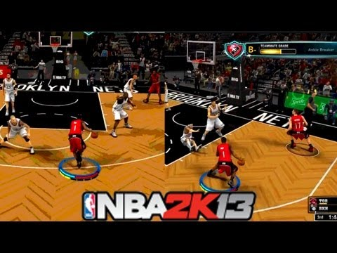 NBA 2K13 MyCareer: NBA Debut | Making Defenders Fall | Brooklyn Nets New Uniforms #NBA2K13