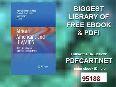 African Americans and HIV AIDS Understanding and Addressing the Epidemic