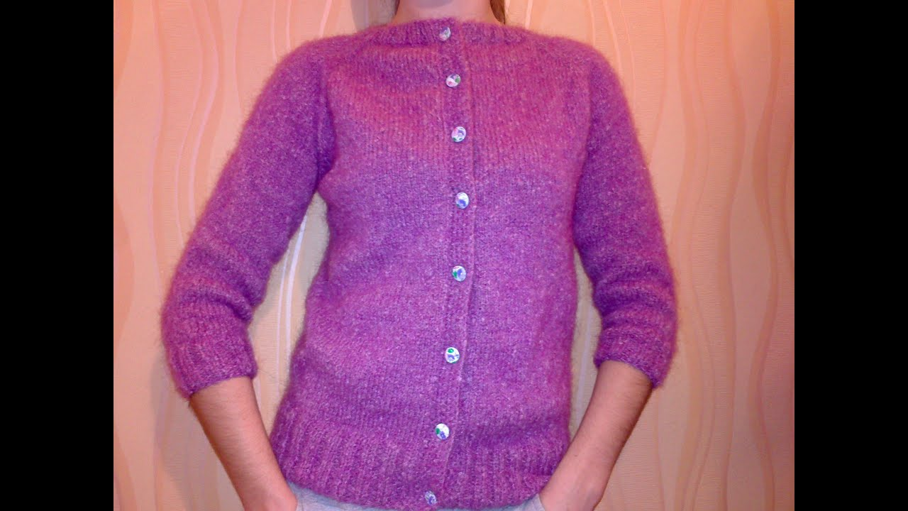5 Рукава Женская кофта крючком Crochet women's jacket - YouTube