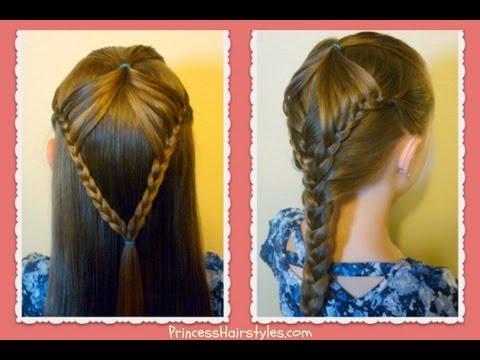 """Fairy Wings Braid"" Half Up Hairstyles For School hair4myprincess YouTube"