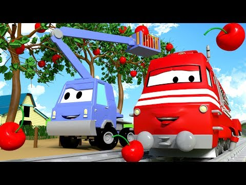 Troy The Train and Chuck the Cherry Picker in Car City  Cars & Trucks cartoon for children