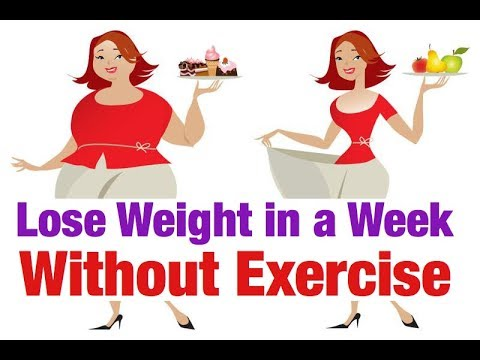 How To Lose Weight In A Week | Without Exercise