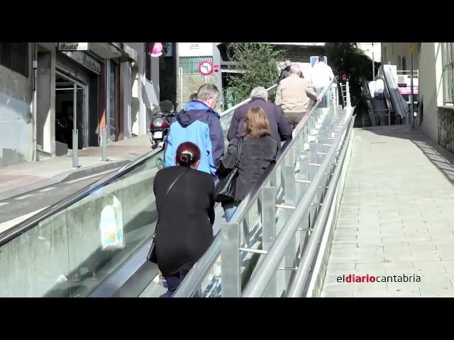 Santander, una ciudad conectada a través de rampas y escaleras mecánicas