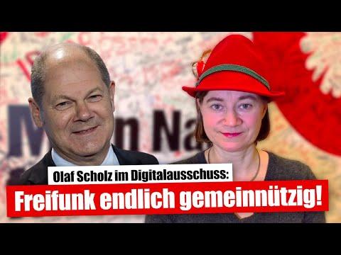 Freifunk soll endlich gemeinnützig werden! Olaf Scholz im Ausschuss Digitale Agenda (29.01.2020)