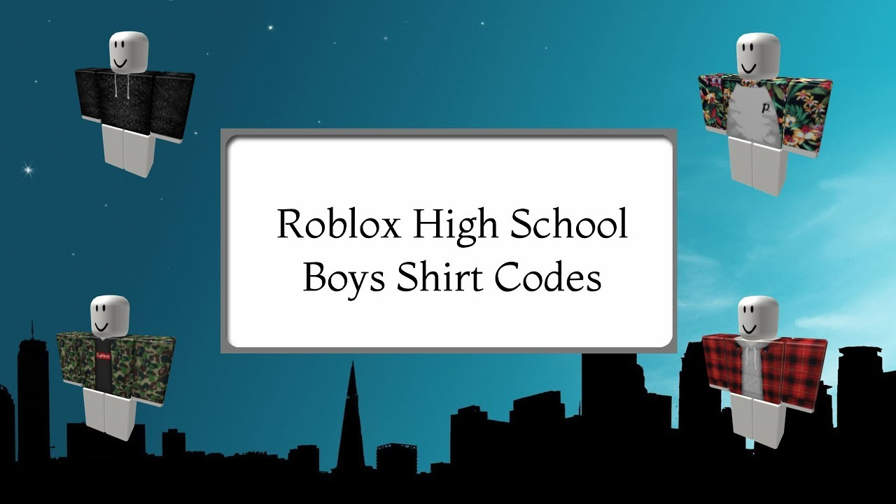 Roblox High School - 10 Boys Shirt Codes! | Doovi