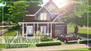 The Sims 4: Строительство | Семейный дом в американском стиле | Vivien House