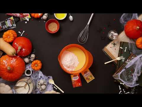 recette-kids-|-gâteau-d'halloween-au-yaourt-et-araignées-vahiné