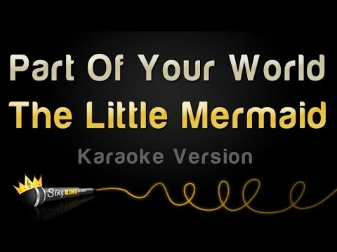 Part of Your World - Instrumental (with lyrics) - YouTube