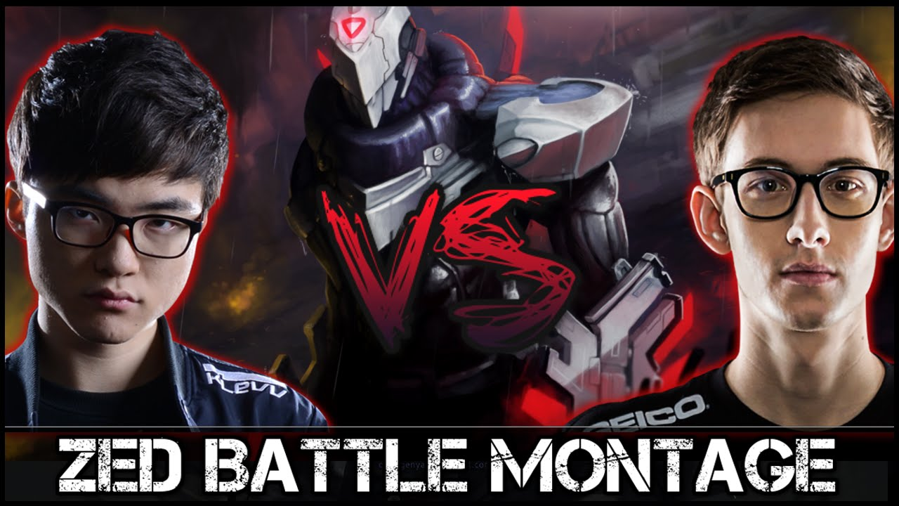 Zed Montage [Battle]: Faker vs Bjergsen