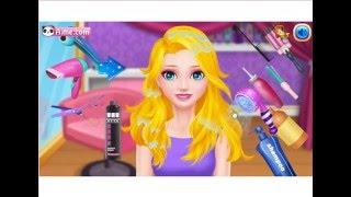 Принцесса Эльза Салон красоты мультфильм  Princess Elsa Beauty Salon обзор игры