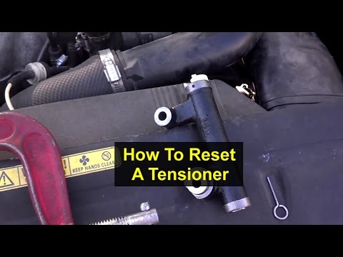 How to compress and reset a hydraulic timing belt tensioner. - VOTD