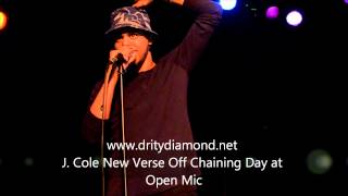 J. Cole New Verse Off Chaining Day At Open Mic.Behind The Scenes www.dritydiamond.net/