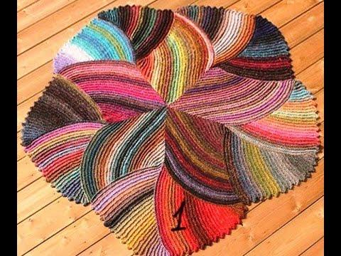 Вязание крючком коврика и тапочек