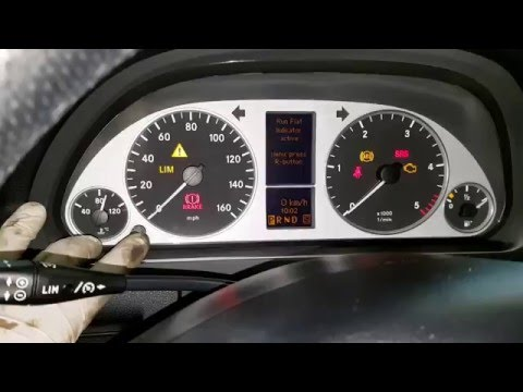 How to reset tyre pressure - new Mercedes a class