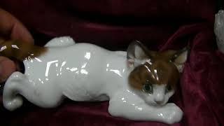 4 Фарфоровые Кошки Розенталь в супер состоянии на продажу Германия