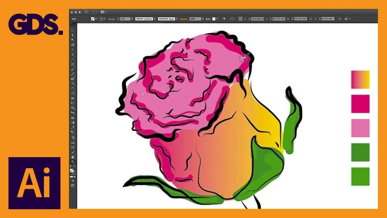 The Blob brush tool & Eraser tool in Adobe Illustrator Ep11/19 [Adobe  Illustrator for Beginners]