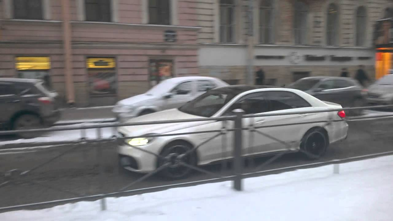 Mercedes benz e63 amg in st petersburg russia youtube for Mercedes benz st petersburg
