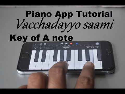 Vachadayyo sami - Bharat ane nenu piano app tutorial