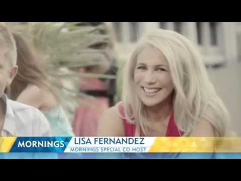Lisa Fernandez co-hosts Mornings with David Campbell Channel 9 | Mornings