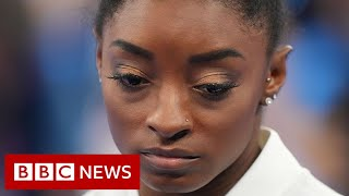 US gymnast Simone Biles out of Olympic individual all-around final - BBC News