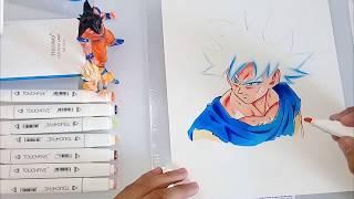 Desenhando goku Ultra Instinct- How to draw Goku (Dragon ballz)