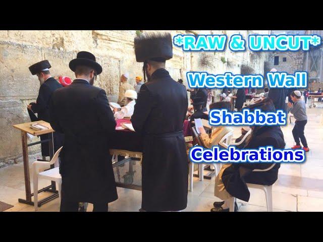 *RAW & UNCUT* FRIDAY SHABBAT CELEBRATIONS AT THE WESTERN WALL JERUSALEM | Israel 2019