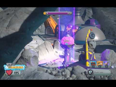 PvzGW2 - parkour locations: moon base first garden using the pirate #2
