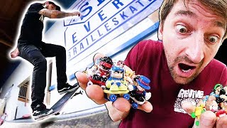 TECH DECK DUDES VS REAL SKATER!