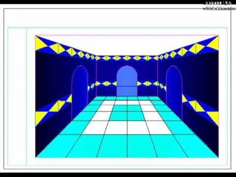Dibuja garlo perspectiva c nica central de habitaci n youtube - Habitacion en perspectiva conica ...