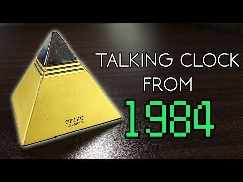 The World's First Talking Clock from 1984 (Seiko Pyramid)