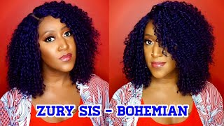 Hey Everybody, Check out this indigo blue curls for the girls synthetic lace front wig from Zury Sis in the style BYD Lace H BOHEMIAN and in the color Indigo ...