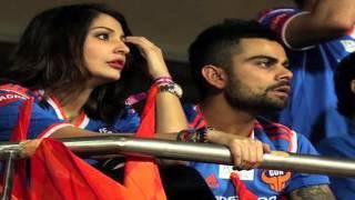 Anushka Sharma And Virat Kohli At Indian Super League Football Match