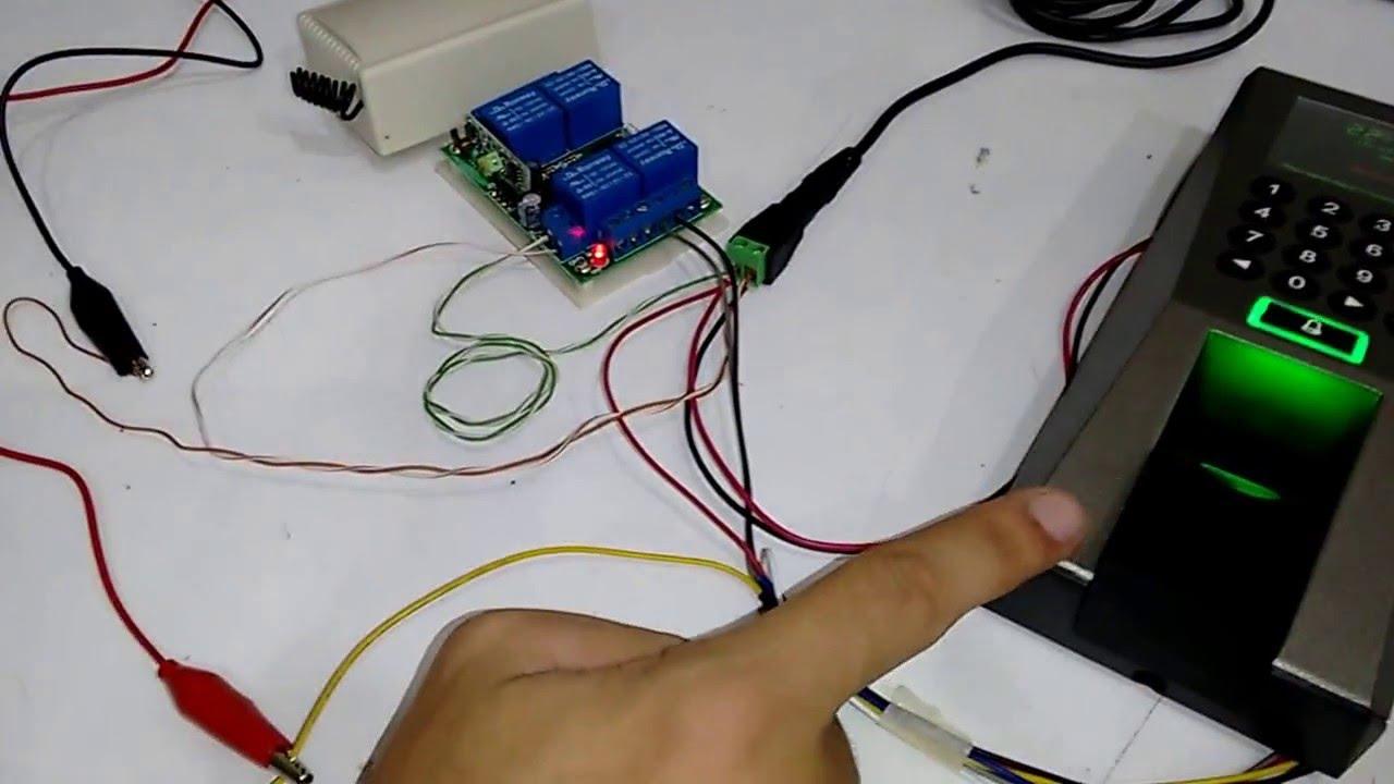 Como conectar un electroim n de un control de acceso y una for Como instalar un estor plegable