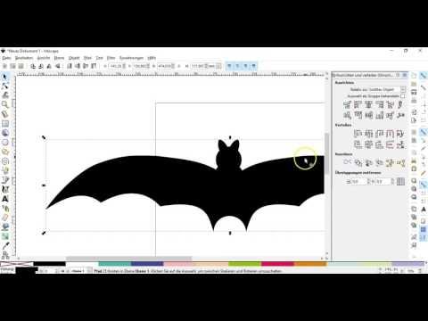 Inkscape-Tutorial eine Fledermaus als Plottervorlage erstellen